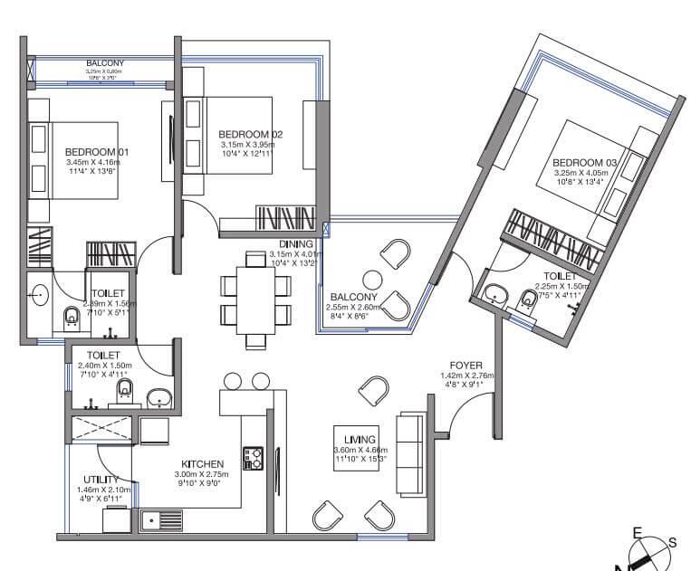 godrej lake gardens apartment 3bhk 1699sqft 1