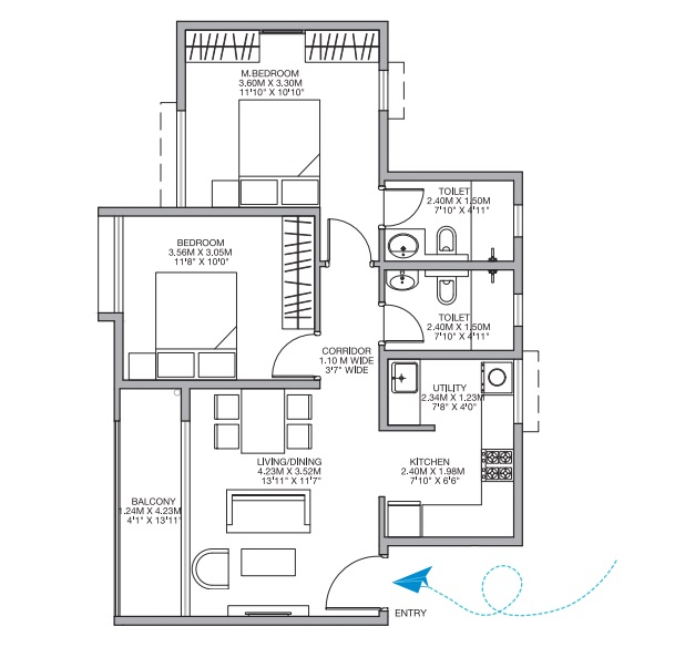 godrej nurture electronic city apartment 2bhk 957sqft51