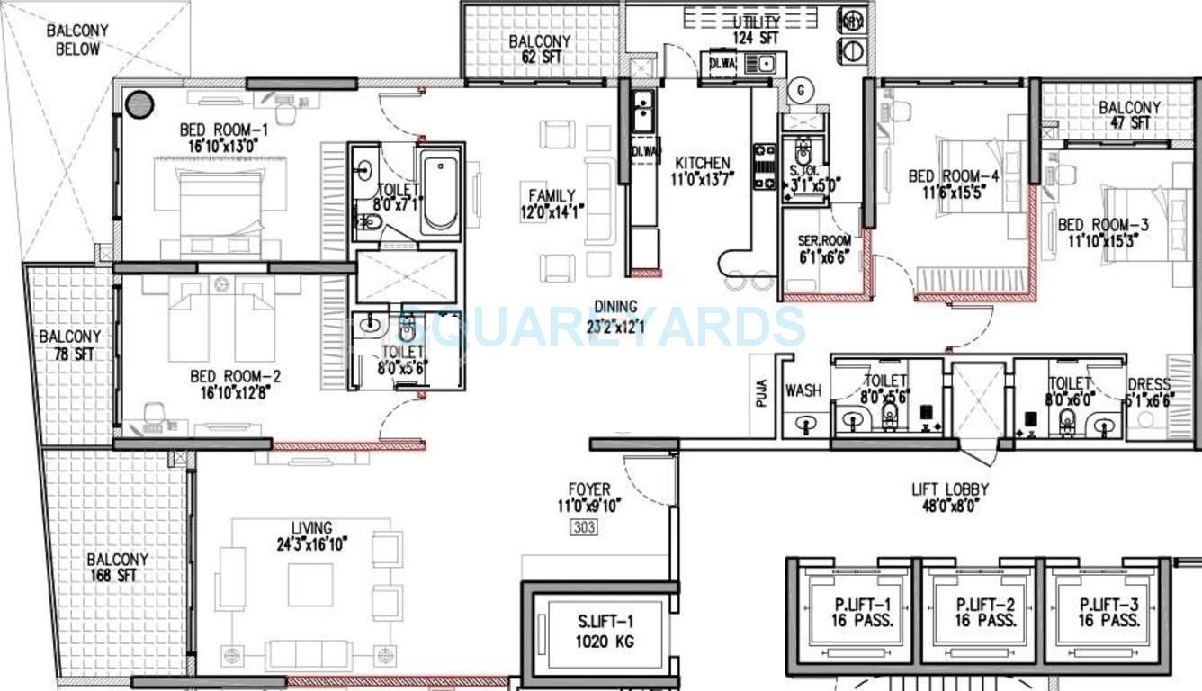 godrej platinum apartment 4bhk 3700sqft1