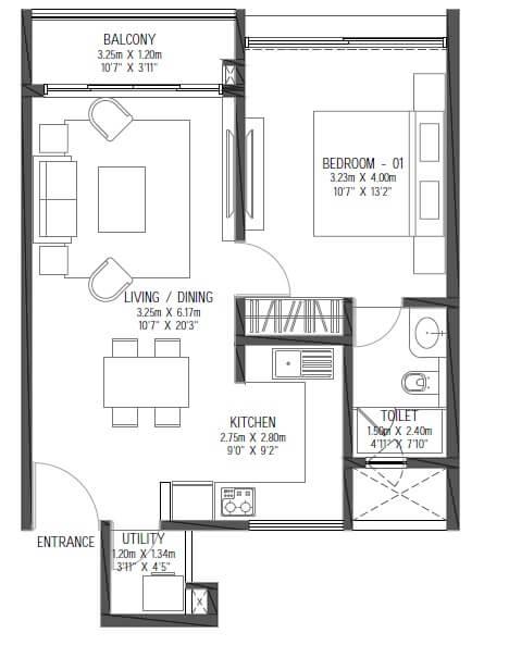 godrej reflections apartment 1bhk 774sqft 1