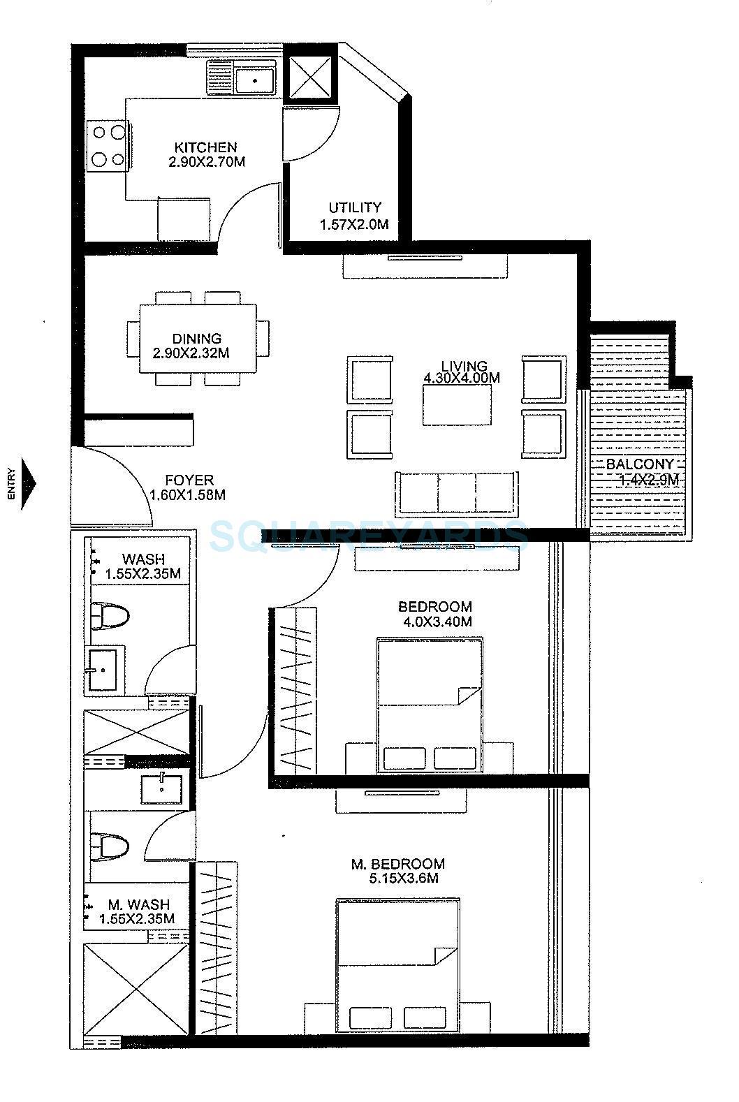 godrej united apartment 2bhk 1500sqft1