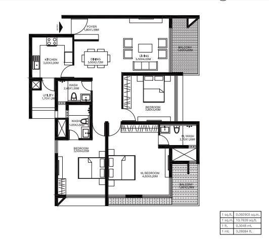 godrej united apartment 3bhk 1933sqft161