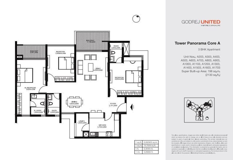 godrej united apartment 3bhk 2130sqft161