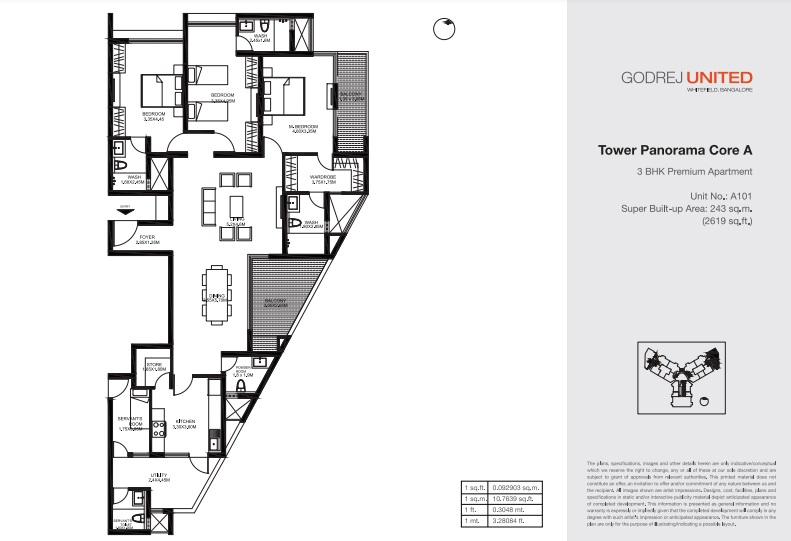 godrej united apartment 3bhk 2619sqft161
