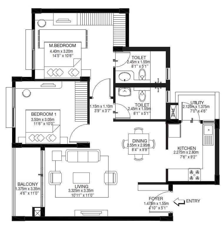 godrej zest apartment 2bhk 758sqft 1