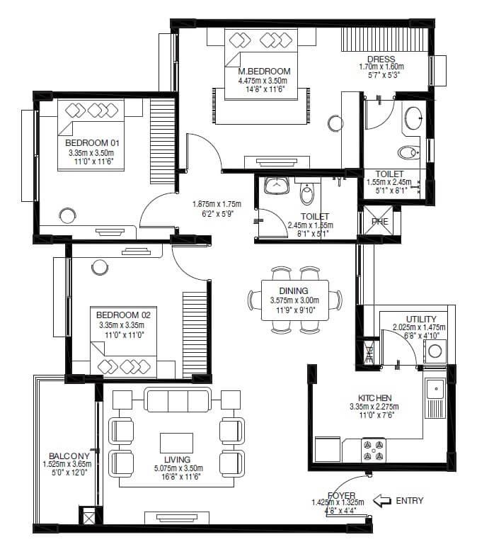 godrej zest apartment 3bhk 1055sqft 1