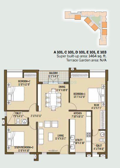 good earth malhar terraces apartment 3bhk 1464sqft1