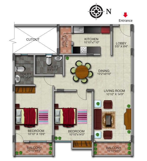 gopalan admirality court apartment 2bhk 1305sqft1