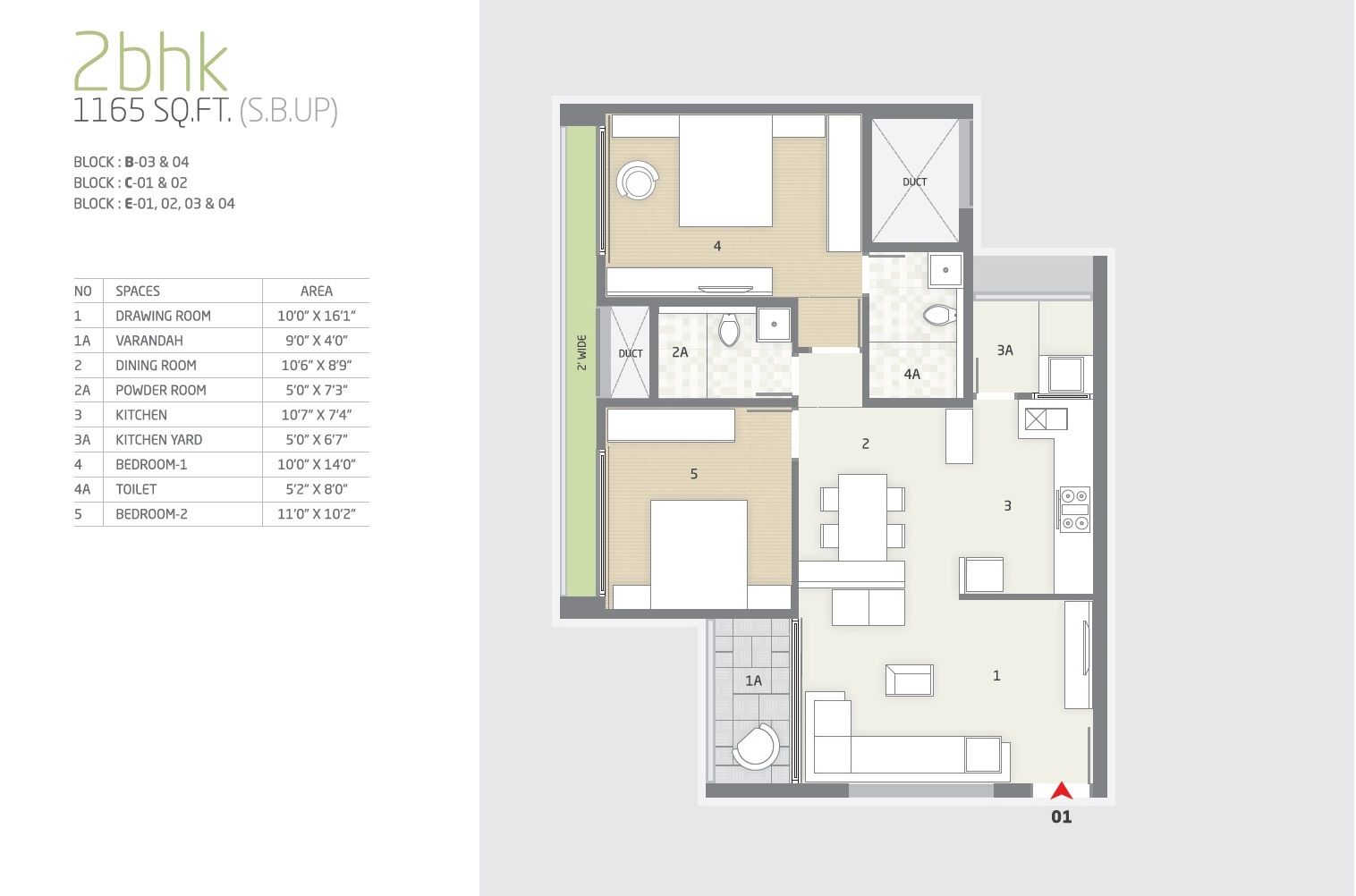 goyal and co orchid greens apartment 2bhk 1165sqft 1