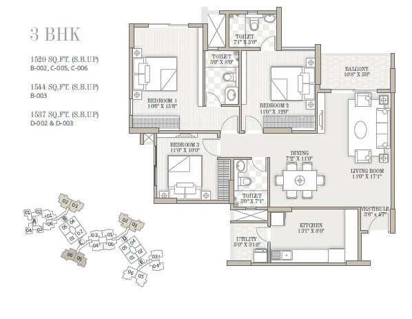 goyal and co orchid whitefield apartment 3bhk 1520sqft 1