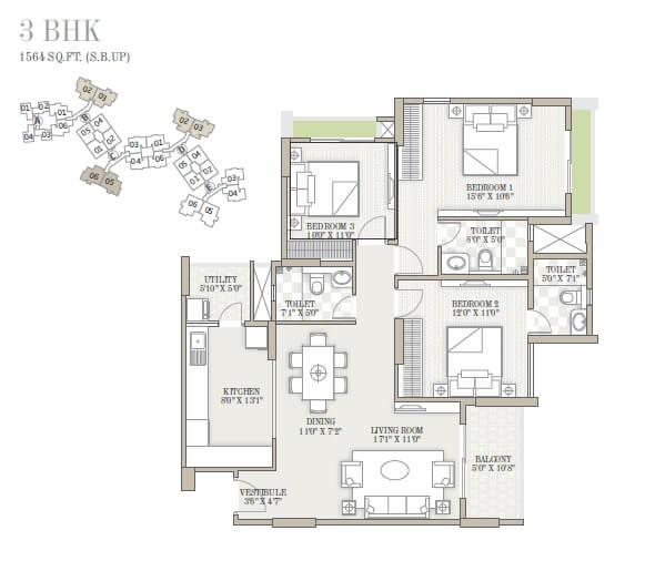 goyal and co orchid whitefield apartment 3bhk 1564sqft 1