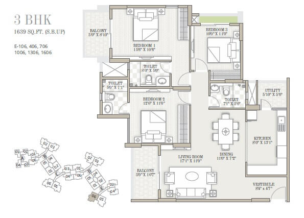 goyal and co orchid whitefield apartment 3bhk 1639sqft 1