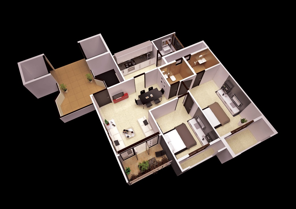 goyal and co orchid woods apartment 2bhk 1099sqft121