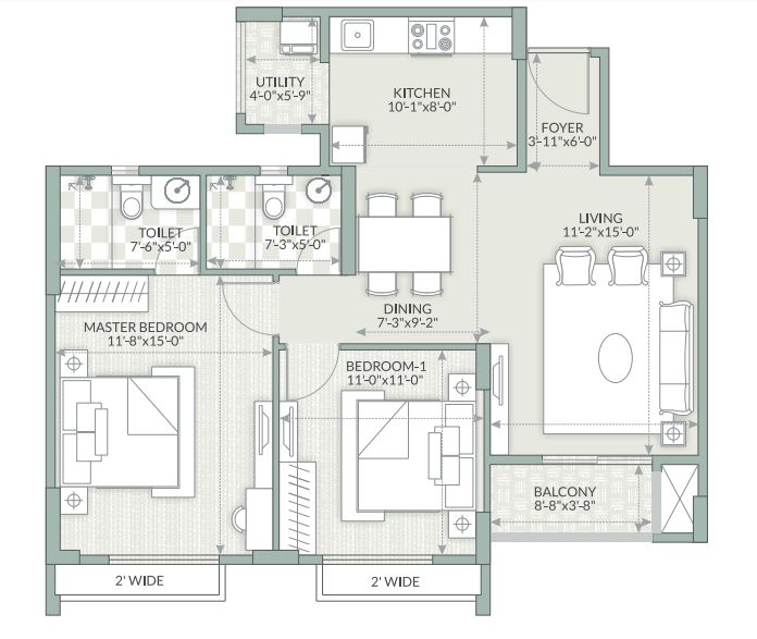 goyal orchid piccadilly apartment 2bhk 1165sqft1