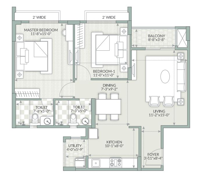 goyal orchid piccadilly apartment 2bhk 1176sqft1