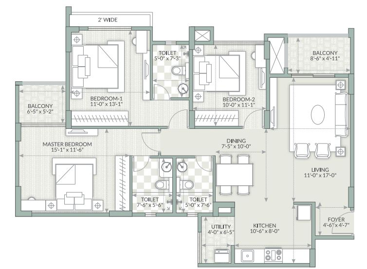 goyal orchid piccadilly apartment 3bhk 1572sqft1