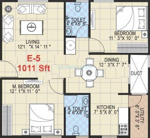 griha mithra grand gandharva apartment 2bhk 1011sqft1