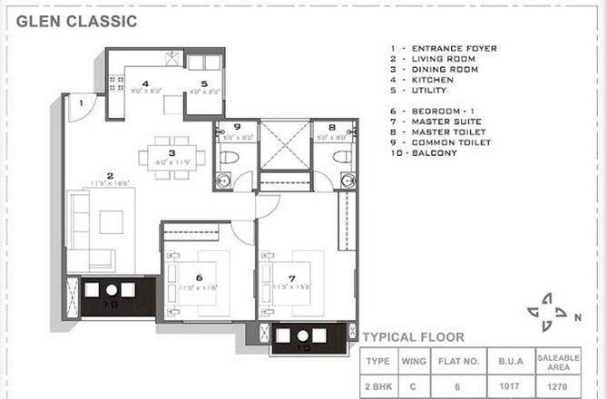 hiranandani glen classic apartment 2bhk 1270sqft 1