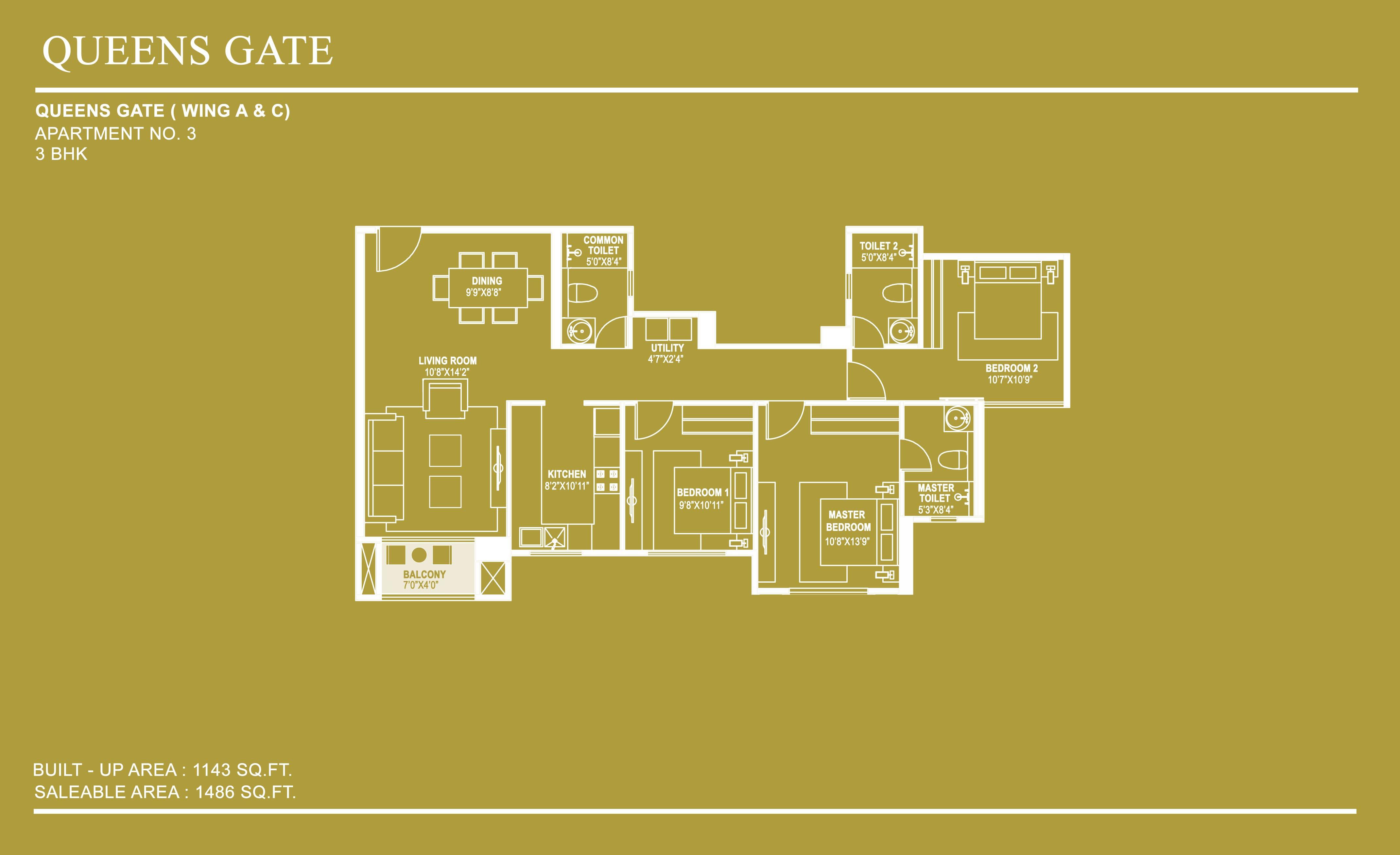 hiranandani queensgate apartment 3bhk 1486sqft1