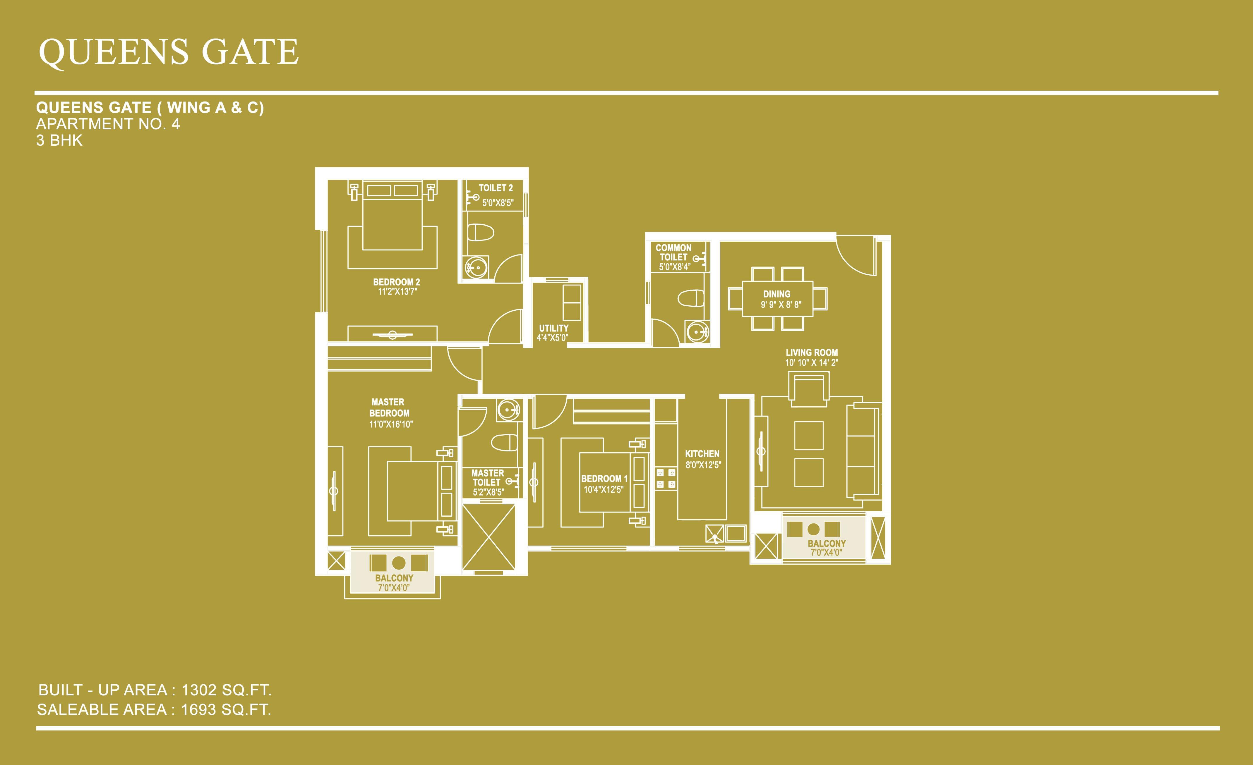 hiranandani queensgate apartment 3bhk 1693sqft1