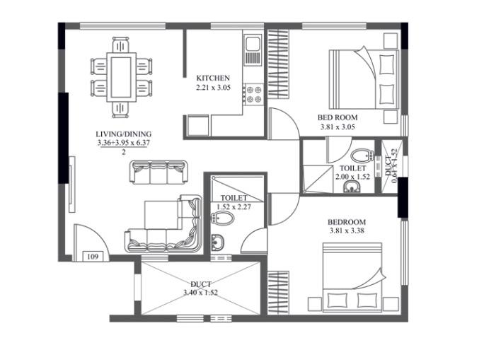 hm crescendo apartment 2bhk 1079sqft121