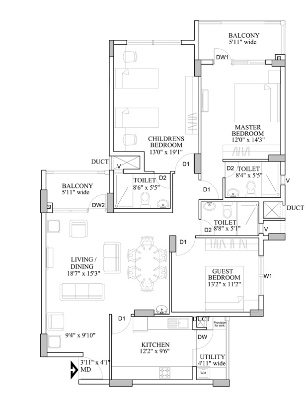hm indigo apartment 3bhk 1780sqft161