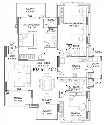 hm symphony apartment 3bhk 1910sqft111