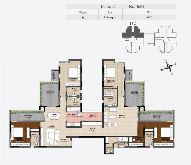 hoyasala ace phase 2 apartment 4bhk 3384sqft91