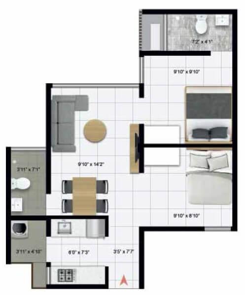 icon homz iconest 3 apartment 2bhk 474sqft 1