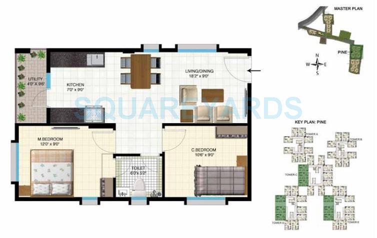 indya estates the greens apartment 2bhk 750sqft1