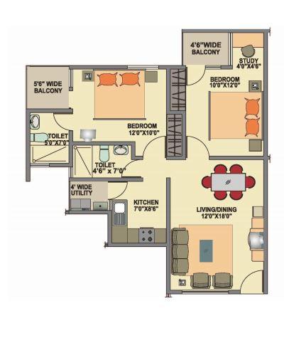 ittina mahavir apartment 2bhk 919sqft31