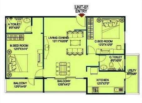 jupiter commanders pinnacle apartment 2bhk 1370sqft71
