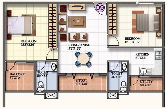 kar na sree mathrusree silver arcade apartment 2bhk 942sqft171
