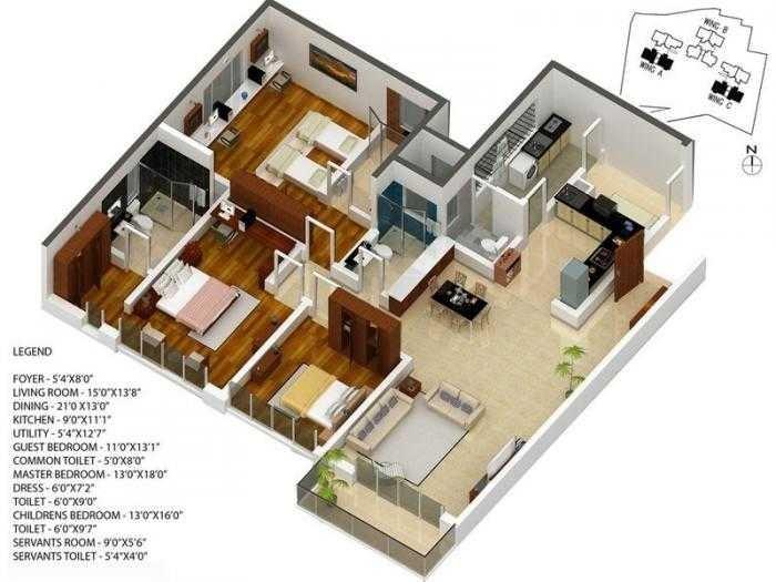 karle zenith apartment 3bhk 2307sqft141