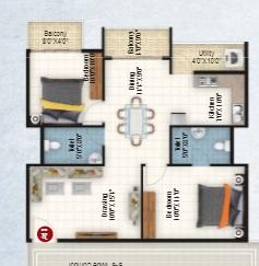 keystone dsr star light  apartment 2 bhk 1020sqft 20215810125827