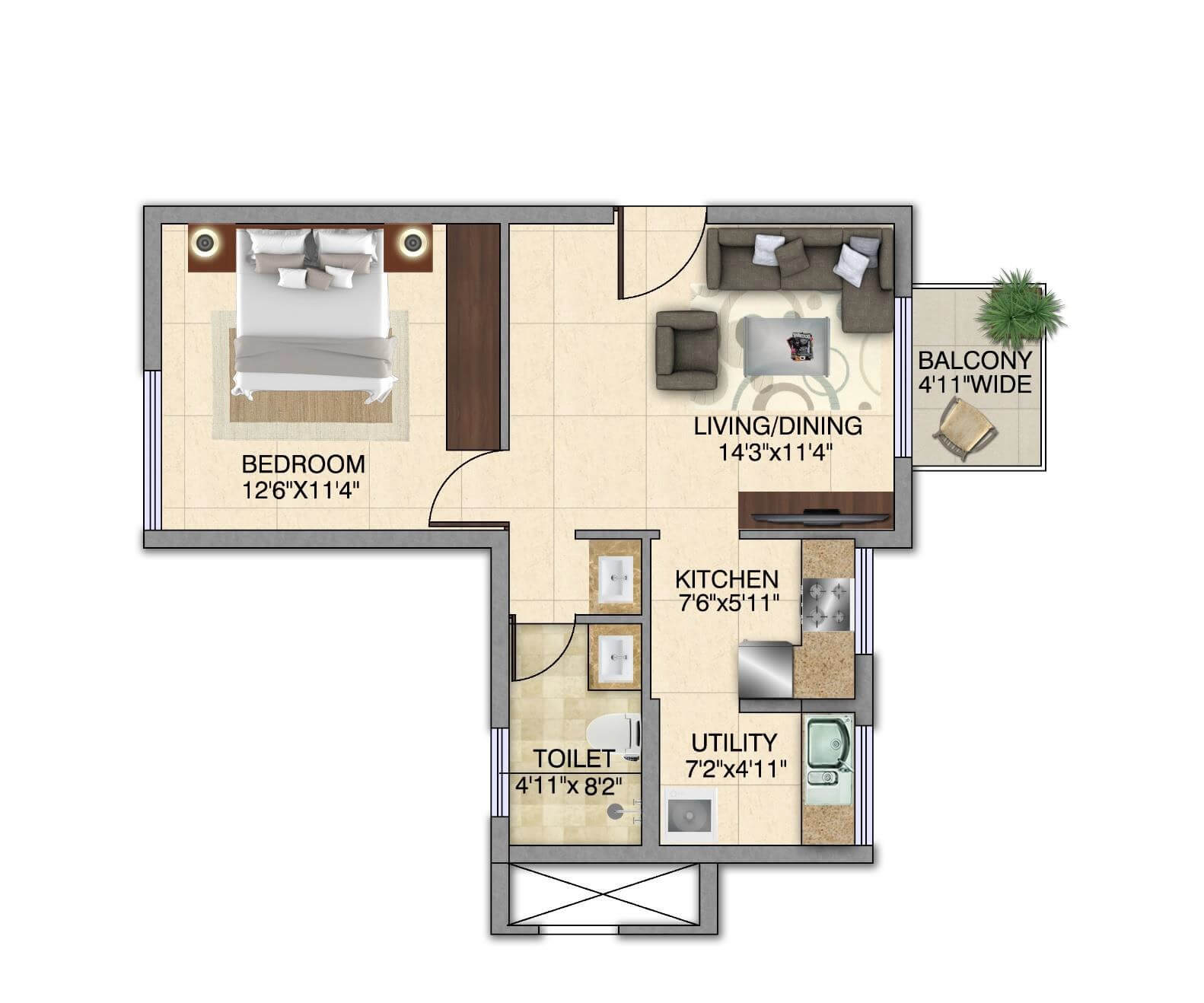 kolte patil itowers exente apartment 1bhk 710sqft 1