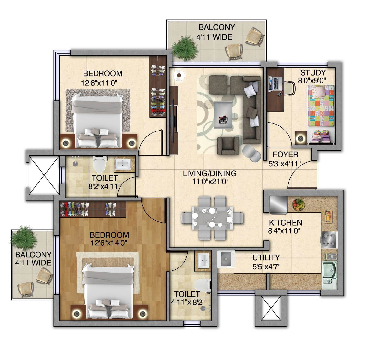 kolte patil itowers exente apartment 2bhk st 1382sqft 1