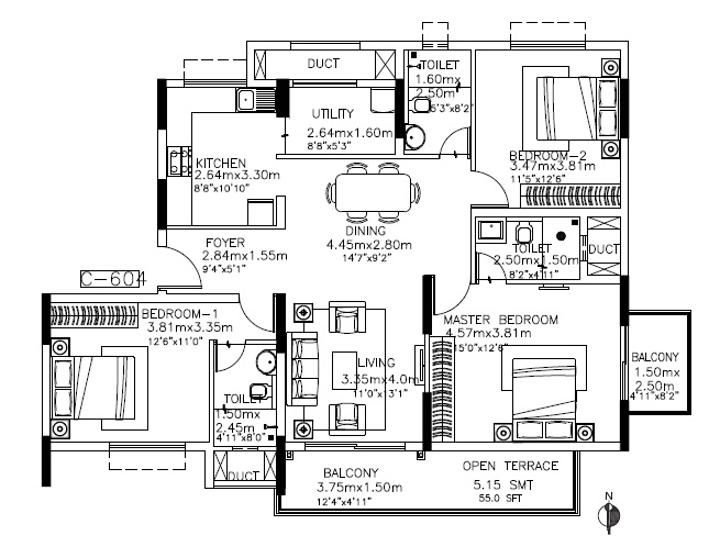 kolte patil itowers exente apartment 3 bhk 1138sqft 20211808131851