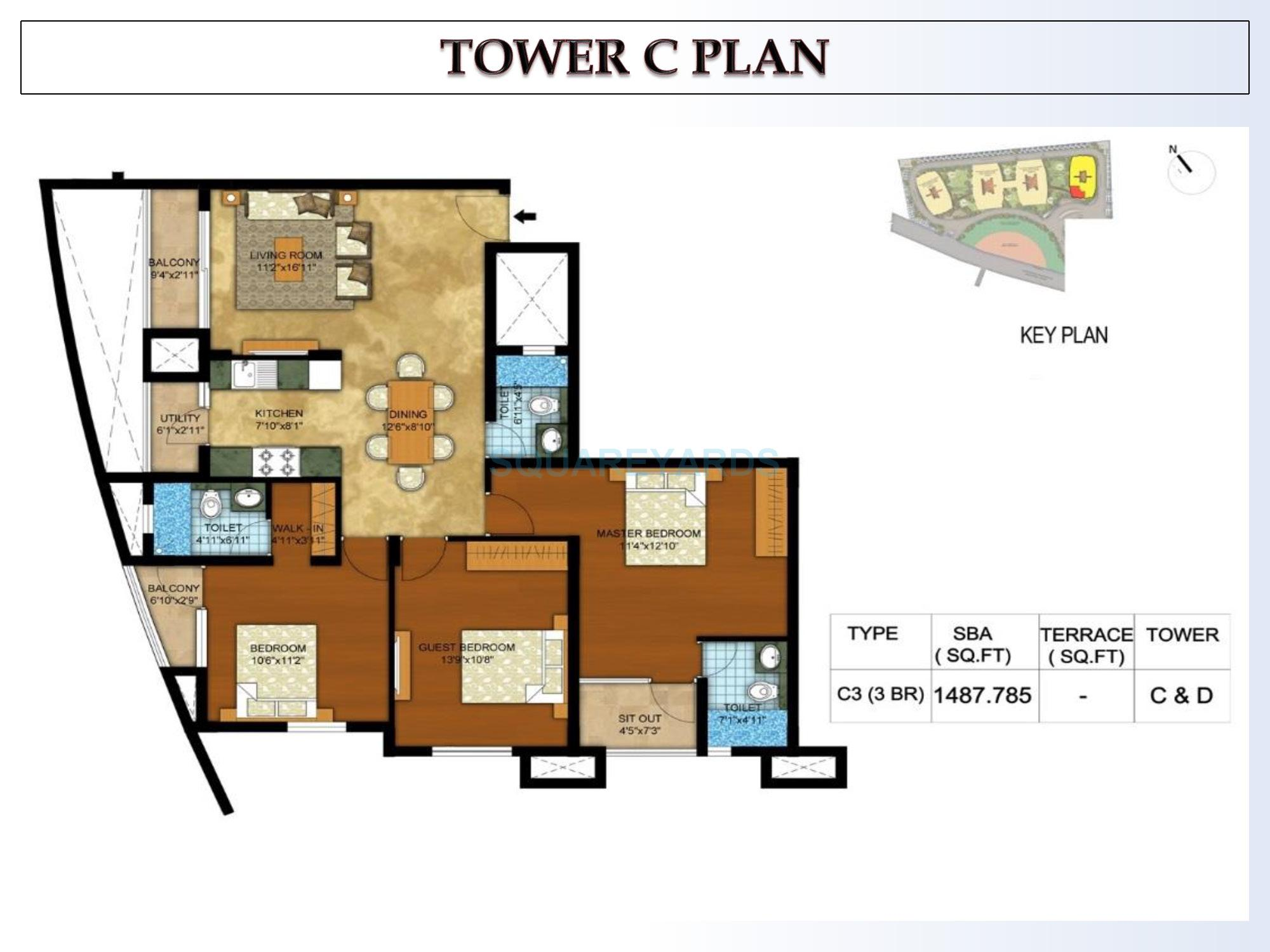 kolte patil mirabilis apartment 3bhk 1498sqft1