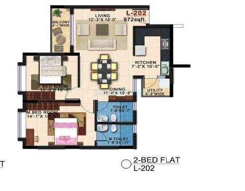 kolte patil shubha apartment 2bhk 1000sqft1