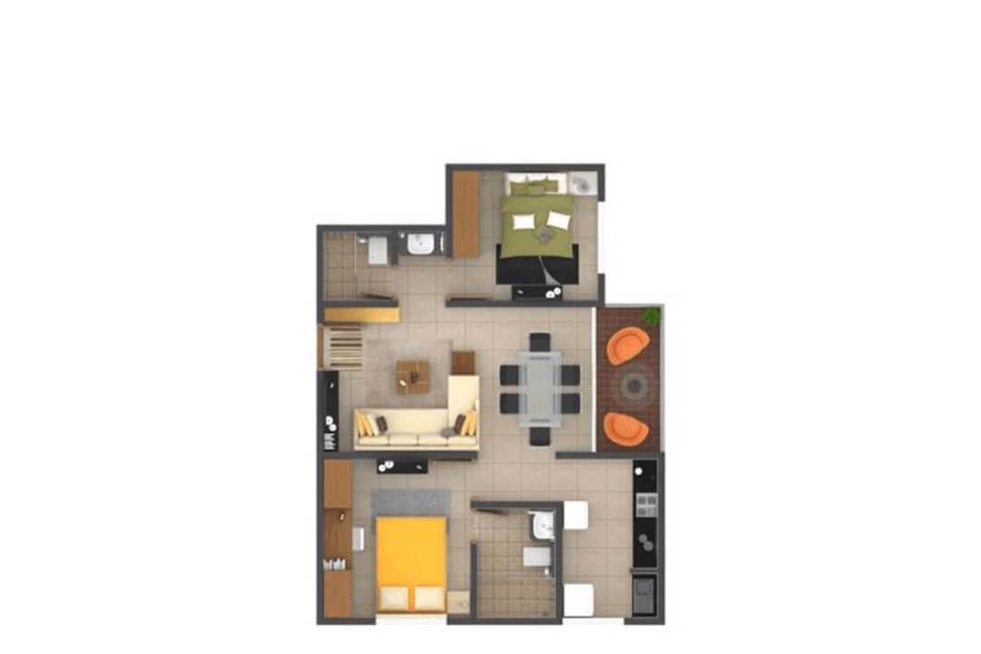 krishna goldfields apartment 2bhk 1042sqft 1