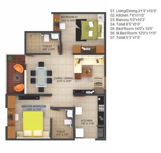 krishna goldfields apartment 2bhk 1051sqft 1
