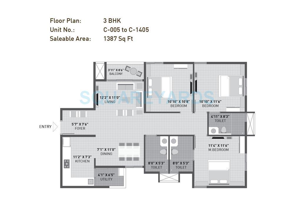 krishna mystiq apartment 3bhk 1387sqft 1