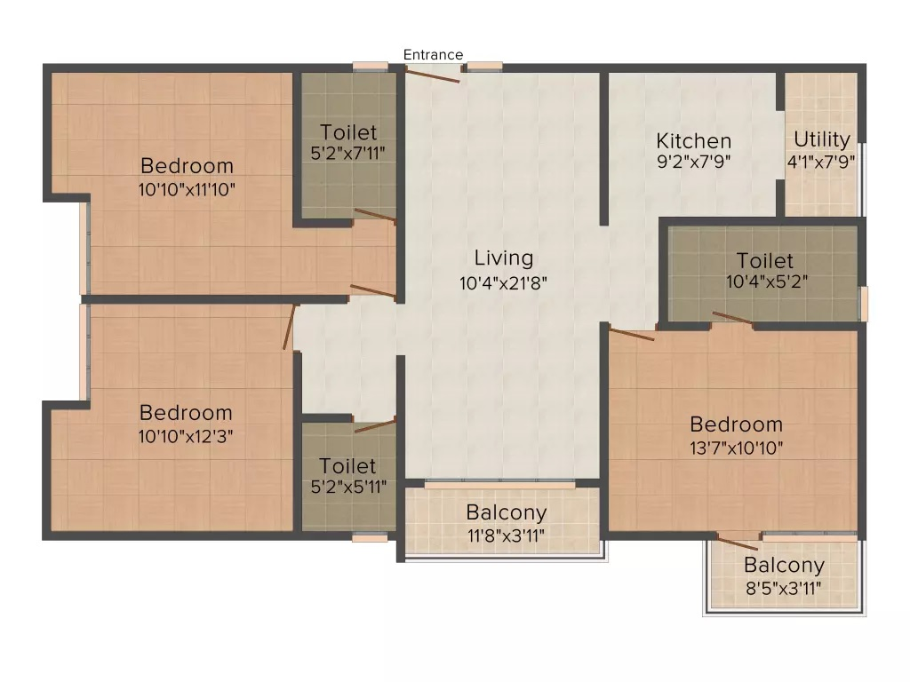 ksr cordelia apartment 3bhk 1367sqft101