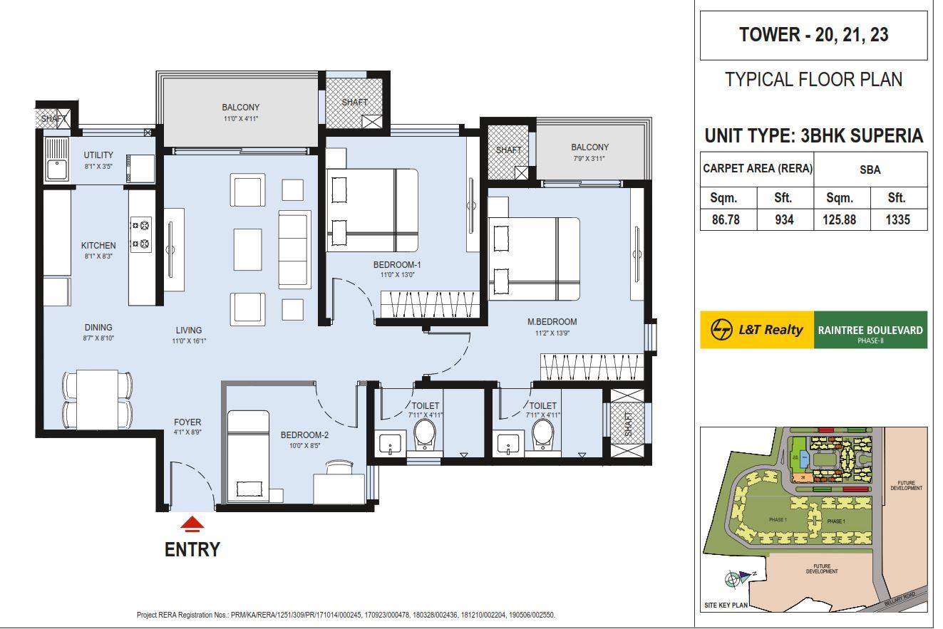 l t raintree boulevard phase 2 apartment 3bhk 1335sqft01