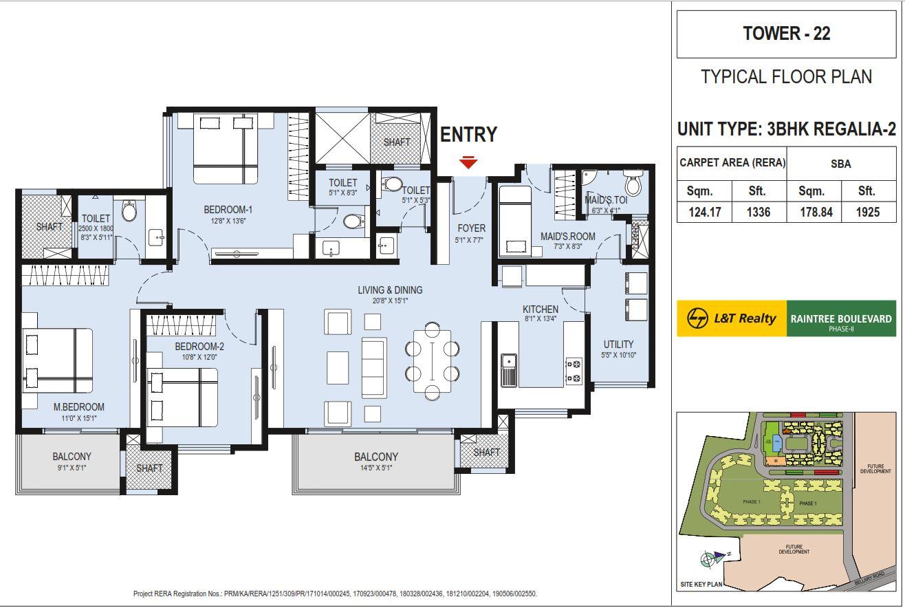 l t raintree boulevard phase 2 apartment 3bhk 1925sqft21