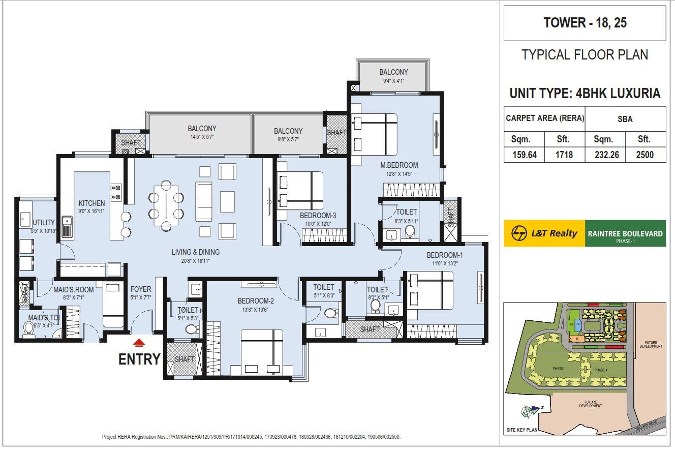 l t raintree boulevard phase 2 apartment 4bhk 2500sqft41