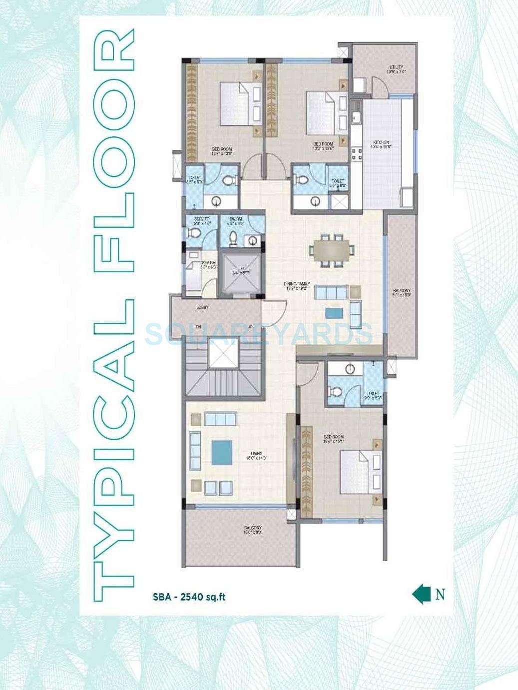 legacy aura apartment 3bhk 2540sqft1