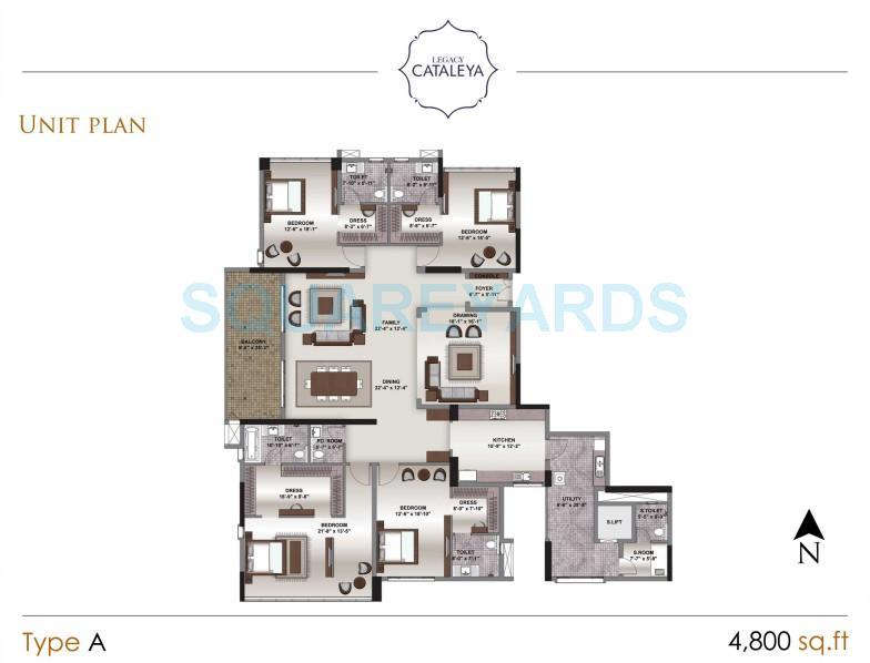 legacy cataleya apartment 3bhk 4800sqft1