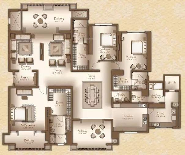 legacy cirocco apartment 3bhk 4740sqft141